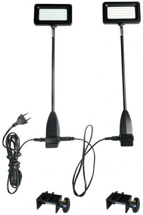 LED Spotlight 15W, inkl. beslag til Expo Wall - sort.  2 stk./sæt