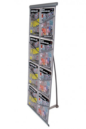 NET BROCHURE STAND Double 8xA4 - Sort