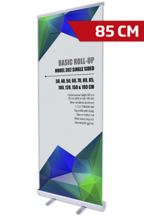 Basic Roll-up, Enkelt Model 85 - alu