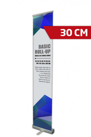 Basic Roll-up, Enkelt Model 30 - alu
