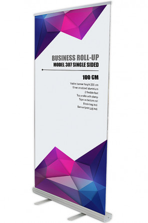 Business Roll-up, Enkelt Model 100 - alu