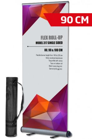 Flex Roll-up, enkelt 90x100-230cm alu, med taske