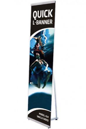 Quick L-Banner, enkelt  40x200cm alu