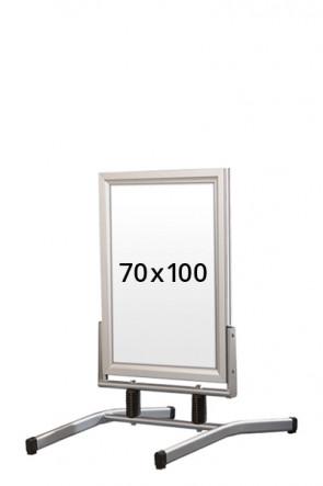 WIND-LINE LUX gadeskilt 45mm (G) 70x100cm alu