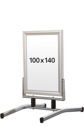 WIND-LINE LUX gadeskilt 45mm (G) 100x140cm alu