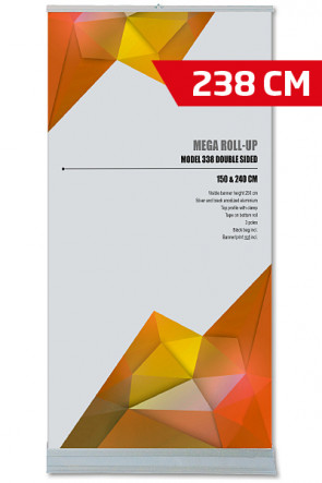 MEGA ROLL-UP Model 240 Dobbelt sidet alu