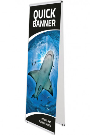 QUICK BANNER dobbelt 60x200cm alu