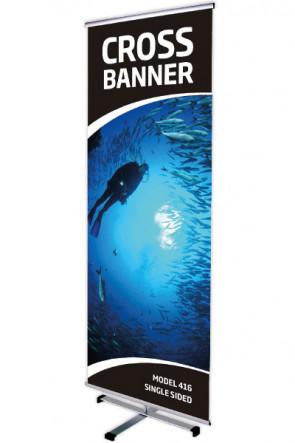 CROSS BANNER enkelt 80x200cm alu