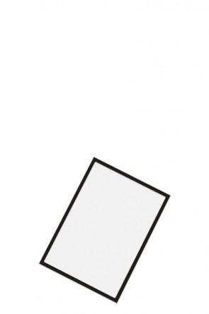 Magnetic pocket for steel hole panels - Black, A5