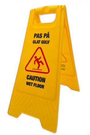 Caution Board  - med print. Dansk + Engelsk