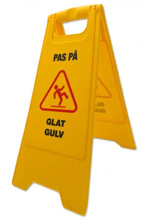 """Caution Board  - med print """"Pas på - Glat gulv"""""""