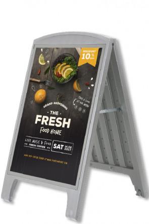 Compact Plast A-board, A1. Grå