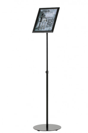 Infostand Telescopic Black  A4