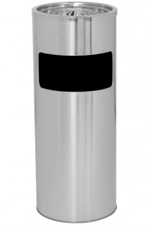 Cigarette Trash Can 18 L - Silver