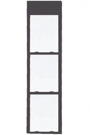 Info Module Board 3xA4 Koksgrå, RAL 7016