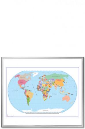 World Political Map, 120x100cm