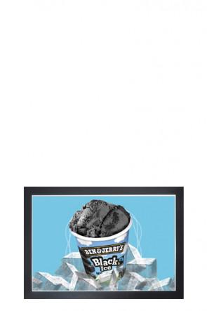 Selvklæbende Plakat Ramme, plastik m/magnet åbning, A4, sort