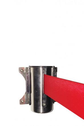 Crowd control belt dispenser wall, red