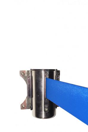 Crowd control belt dispenser wall, blue