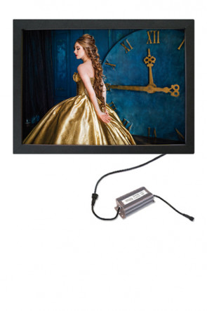 CROWN  LED OUT BOX, 70x100cm single sided - black